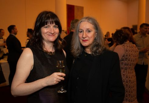 Paula Shields and Catriona Crowe, awards judges, at the Irish Theatre Awards. Photograph: Tom Honan