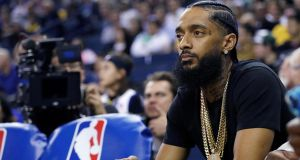 Nipsey Hussle: his LP Victory Lap was nominated this year for best rap album at the Grammy Awards, losing to Cardi B's Invasion of Privacy.  Photograph: Marcio Jose Sanchez/AP Wire