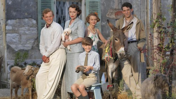 Keeley Hawes (2nd from left) in The Durrells