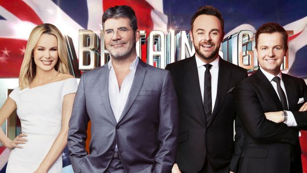 Amanda Holden, Simon Cowell, and Ant & Dec in Britain's Got Talent