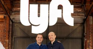 Lyft president John Zimmer and CEO Logan Green. Lyft reported a loss of $911 million in 2018, up from $688 million in 2017, despite revenue doubling in 2018 to $2.16 billion. Photograph: Mike Blake/Reuters