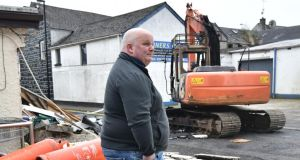 Shop owner Walter Miller  following the theft of an ATM machine in Ahoghill.  Photograph:  Colm Lenaghan/ Pacemaker Press