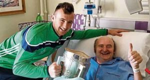 Limerick All-Ireland winner Richie English with his father Paddy.