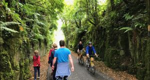 Walkers and cyclists on the Waterford Greenway. The chief executive of Irish travel website Hostelworld, Gary Morrison, says Hostelworld is optimistic about its future growth. Photograph: Bryan O'Brien