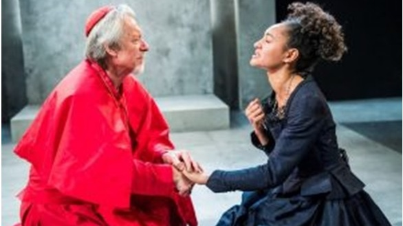 Performance of The Cardinal (1641) by Troupe, Southwark Playhouse, 26 April - 27 May 2017, a play often read alongside the Politician as an attack on the British political and ecclesiastical establishment.