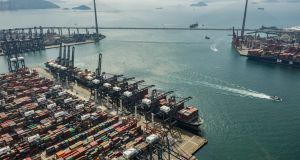 Hong Kong's conainer terminal. WTO economists said on Tuesday that global trade grew by 3 per cent in 2018 - a big downgrade compared to a forecast of 3.9 per cent growth last September.