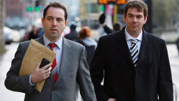 Sean Quinn Jr and brother-in-law, Niall McPartland (left). Photograph: Courts Collins