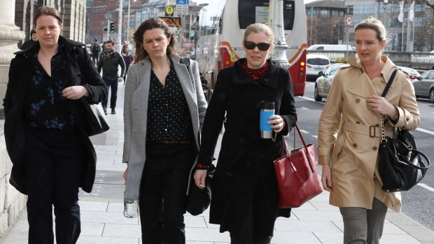 Aoife, Brenda, Colette and Ciara, daughters of Sean Quinn. Photograph: Collins Courts