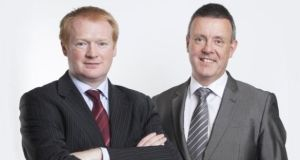 "Kieran Fitzpatrick and Maurice Curran, who won the ""emerging category"" prize at the EY Entrepreneur of the Year awards in 2013"