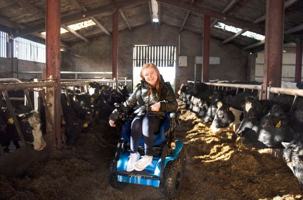 Facing Change: Ruby McCandless on the family farm in Co Donegal. Photograph: Ruth Medjber