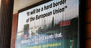 The Irish Freedom Party has spent an estimated €40,000 on a big billboard campaign. Photograph: Brian Lawless/PA Wire