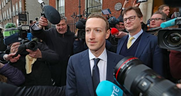 Facebook chief executive Mark Zuckerberg in Dublin on Tuesday. Photograph: Niall Carson/PA Wire