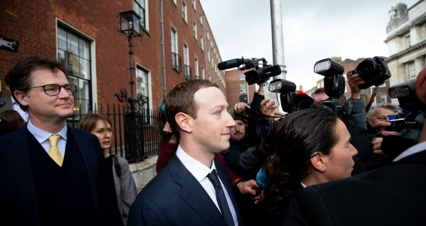 Facebook Mark Zuckerberg   after meeting with members of the Oireachtas Committee on Communications, in Dublin. Photograph: Tom Honan