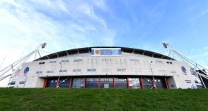 The University of Bolton Stadium. The safety group has  ruled that  supporters will be prevented from entering the ground for the home games against Ipswich  and Middlesbrough. Photograph:   Dave Howarth/PA Wire