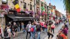 Temple Bar in Dublin's city centre. Meitheal, the annual gathering of tourism businesses and international buyers, is  taking place this week at Citywest on the city's outskirts. Photograph: Edwin Remsberg/Getty Images