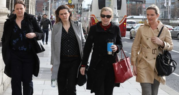 Seán Quinn's daughters, Aoife, Brenda, Colette and Ciara, and son Seán jnr, have agreed a deal with the State-owned Irish Bank Resolution Corporation. Photograph: Collins Courts