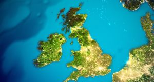 United Kingdom and Ireland map. Elements of this image furnished by NASA. 3d rendering