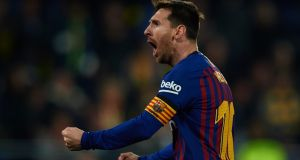Lionel Messi inspired a late Barcelona comeback against Villarreal. Photograph: Manuel Queimadelos Alonso/Getty