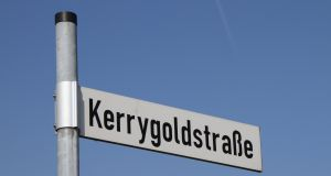 Kerrygoldstrasse  (Kerrygold Street) in Germany where Kerrygold Butter is  a fast-selling brand.