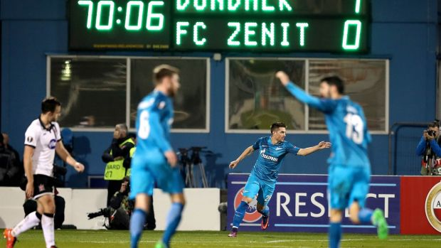 Dundalk faced Zenit St Petersburg in the group stages of the 2016-17 Europa League. Photograph: Ryan Byrne/Inpho