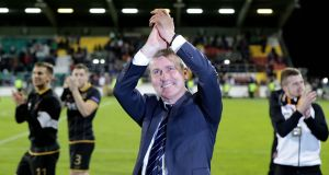 Then Dundalk manager Stephen Kenny after his side's 1-0 win over Maccabi Tel Aviv in September 2016. Photograph: Morgan Treacy/Inpho