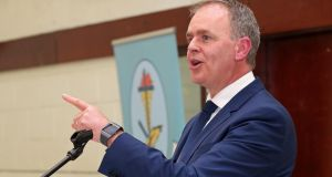 Minister for Education Joe McHugh hits out at  claims  that students would be prevented from celebrating events such as Christmas or Easter under a multidenominational patron. Photograph: Jim Coughlan