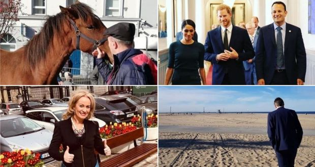 Instagram: photographs posted by Michael Healy-Rae, Leo Varadkar (with Meghan Markle and Prince Harry), Niamh Smyth and Simon Harris