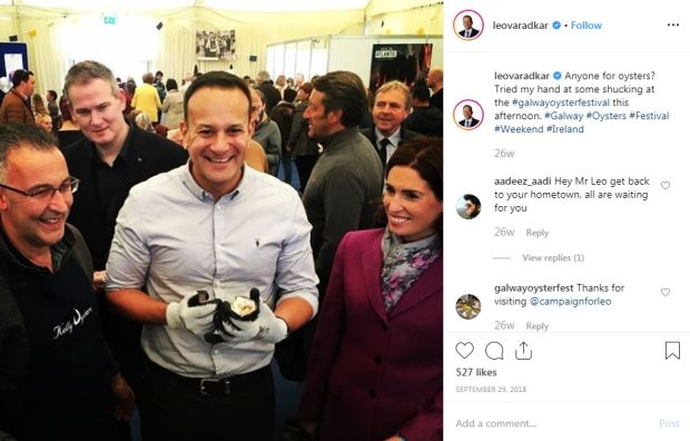 Instagram: one of Leo Varadkar's posts