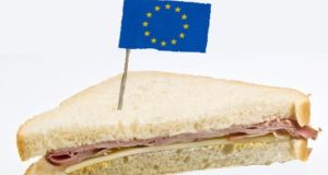 Commission officials briefing on no-deal planning for food and health product imports confirmed prohibitions on material crossing the Irish Border, including ham sandwiches, whether or not there are border posts and controls on it. Photograph: Getty Images