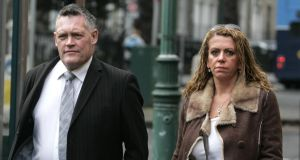Irish Nationwide whistleblower Olivia Greene and her partner Brendan Beggan arriving at the Employment Appeals Tribunal in 2012. Photograph: Dara Mac Dónaill