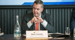 Director of economics and statistics at the Central Bank Mark Cassidy. Photograph: James Forde