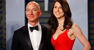 Amazon chief executive Jeff Bezos and his former wife MacKenzie Bezos. Photograph: Reuters