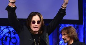 Ozzy Osbourne (left): 'I'm grateful for the love and support I'm getting from my family, my band, friends and fans, it's really what's keeping me going.' Photograph: Theo Wargo/Getty