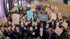 More than 350 students and teachers gathered in Croke Park to discuss the importance of teenage activism in affecting change on global issues. Photograph: Mark Stedman