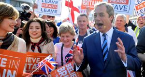 Nigel Farage has announced that he will stand in the European Parliament elections next month for his new Brexit Party. File Photograph:Toby Melville/Reuters