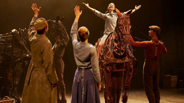 A scene from War Horse which is based on the book by Michael Morpurgo