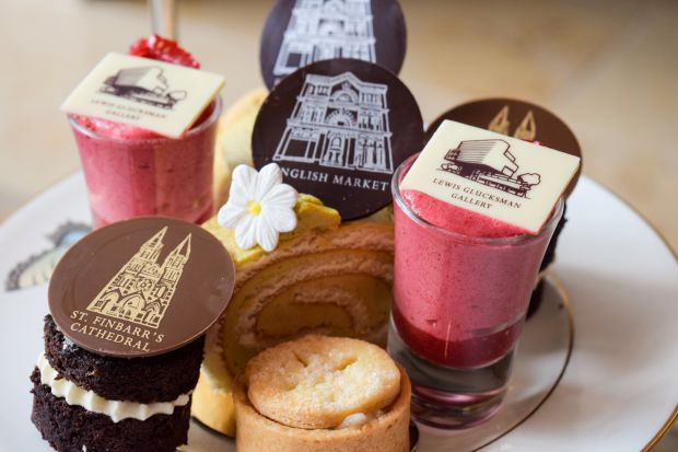 Local landmarks are replicated on the Afternoon tea menu at the River Lee Hotel in Cork