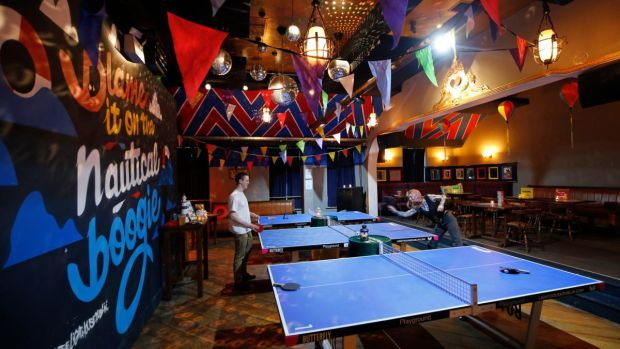 The Lighthouse in Dun Laoghaire hosts 'Ping Pong All Stars' every Wednesday night. Photograph Nick Bradshaw/The Irish Times