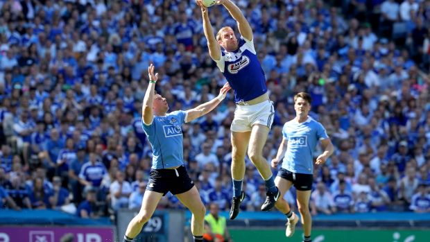 Donal Kingston of Laois in action against Dublin's Philly McMahon during last summer's Leinster football final at Croke Park. Photograph: Bryan Keane/Inpho