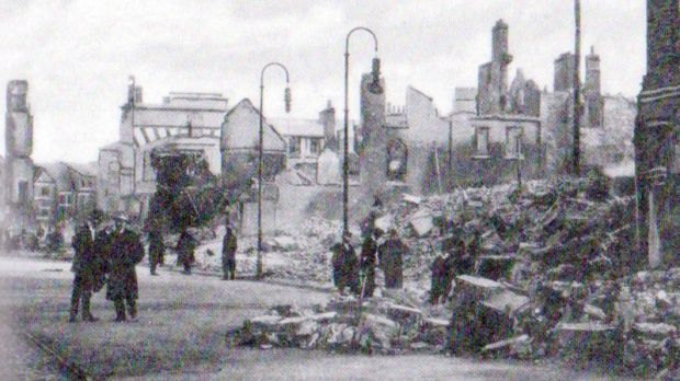 Cork's Patrick Street after the fire in December 1920