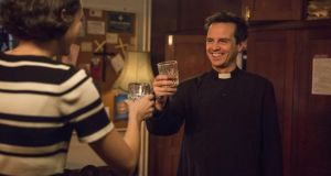 The Hot Priest: Andrew Scott with Phoebe Waller-Bridge in Fleabag. Photograph: Luke Varley/Two Brothers/BBC