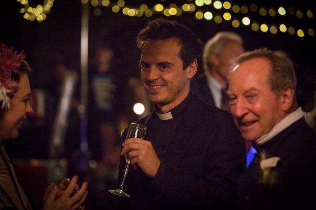 The Hot Priest: Andrew Scott with Olivia Colman and Bill Paterson in Fleabag. Photograph: Luke Varley/Two Brothers/BBC