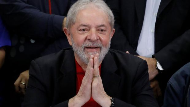 Former Brazilian president Luiz Inacio Lula da Silva after he was convicted on corruption charges, in Sao Paulo, Brazil, on July 13th, 2017. Photograph: Nacho Doce