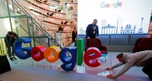 Google's Irish staff shared €95.8 million in 2017, an average of €28,691 on top of salary and other benefits. Photograph: Hannibal Hanschke/File Photo/Reuters