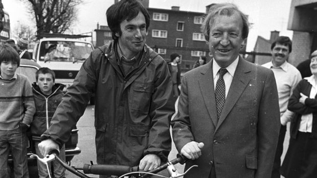 Then taoiseach Charlie Haughey with Tony Gregory TD in 1982. To mark the 10th anniversary of Gregory's death a photographic exhibition on his life and work is opening later this month. Photograph: Peter Thursfield