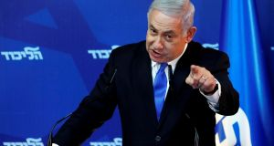 Mr Netanyahu pledged that he would not dismantle a single Jewish settlement and that Israel would retain control of the territory west of the Jordan River –the West Bank. File Photograph: Ronen Zvulun/ Reuters