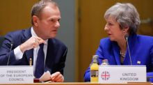 EU Council president Donald Tusk with British prime minister Theresa May in Brussels. Whatever happens next on Brexit, the British have entered a permanent state of negotiation with the EU. Photograph: Olivier Hoslet/EPA