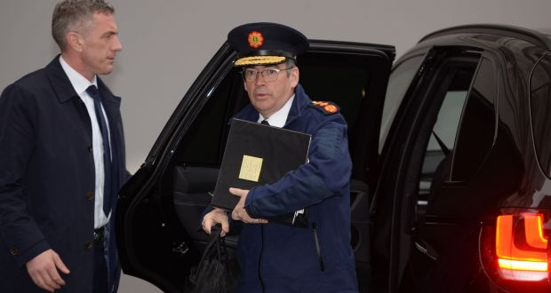 Garda Commissioner Drew Harris: security has been                   significantly stepped up for Mr Harris due to his                   previous role in the PSNI and the suspected threat                   from dissident paramilitary groups. Photograph: Alan                   Betson