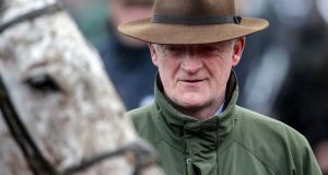 Willie Mullins' horse Up For Review died during the Grand National on Saturday. Photo: Inpho