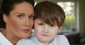 Suzanne Voakes and her son Rian (6). Photograph: Nick Bradshaw
